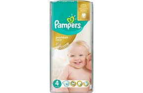 Pampers Premium Care Πάνες No 4 (Maxi:8-14Kg) 52τμχ
