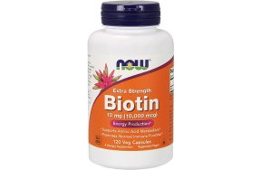 Now Biotin 10mg (10,000 mcg), 120V.Caps
