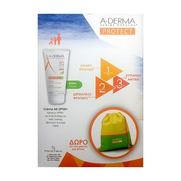 A-Derma Protect AD Cream Very High Protection Spf50+, 150ml