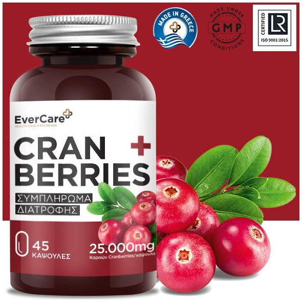Evercare Cranberries 25.000mg, 45Caps