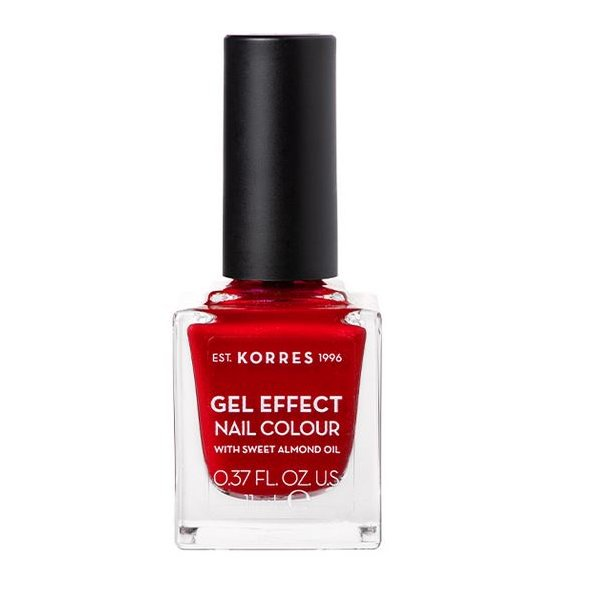 Korres Gel Effect Nail Colour Βερνίκι Νυχιών Νο 54 Melted Rubies, 11ml