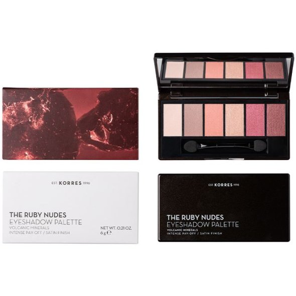 Korres Volcanic Minerals The Ruby Nudes Eyeshadow Palette