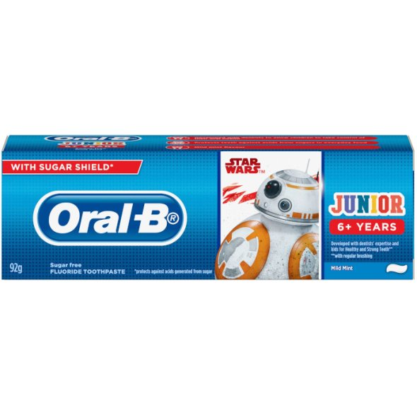 Oral-B Junior Star Wars 6+ Ετών, 75ml