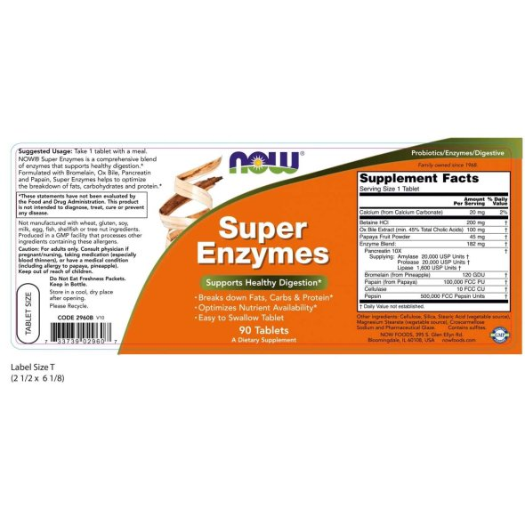 Now Super Enzymes, 90Tabs