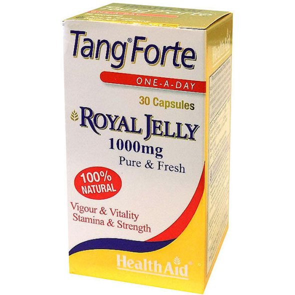 Health Aid Tang Forte Royal Jelly - Βασιλικός Πολτός 1000 Mg, 30Caps