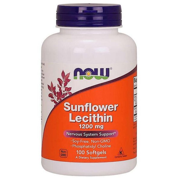 Now Sunflower Lecithin 1200mg, 100Caps
