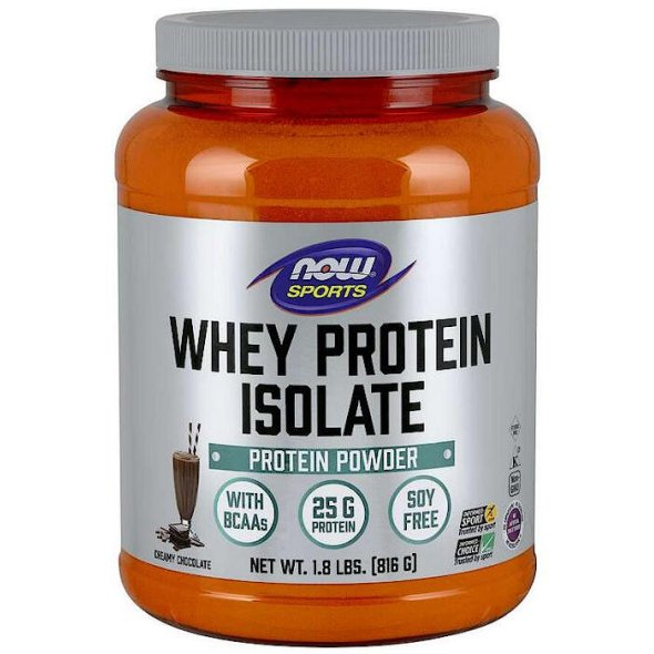 Now Foods Sports Whey Protein Isolate Natural Dutch Chocolate 816 gr