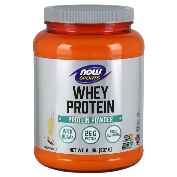 Now Whey Protein Natural Vanilla, 907g