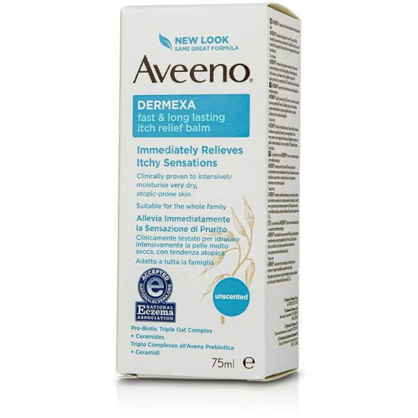 Aveeno Dermexa Fast & Long Lasting Itch Relief Balm, 75ml