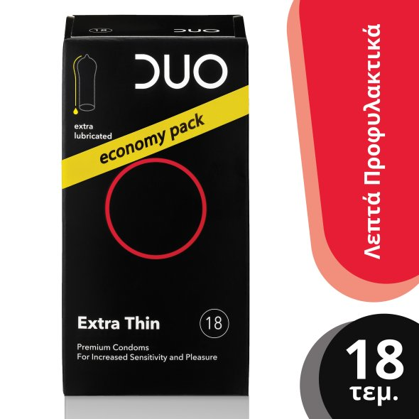 Duo Extra Thin Econopy Pack Προφυλακτικά 18Τμχ