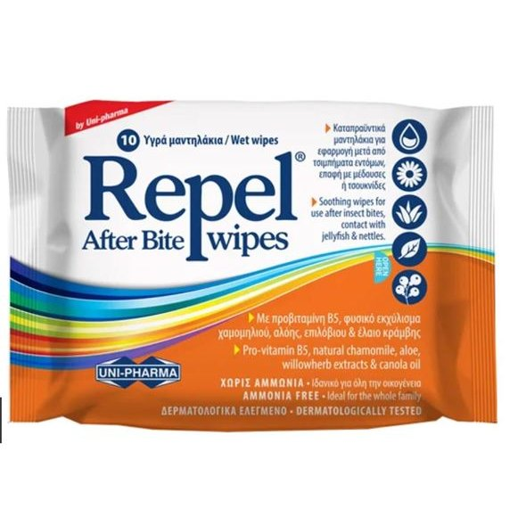 Repel After Bite Wipes 10 τεμ