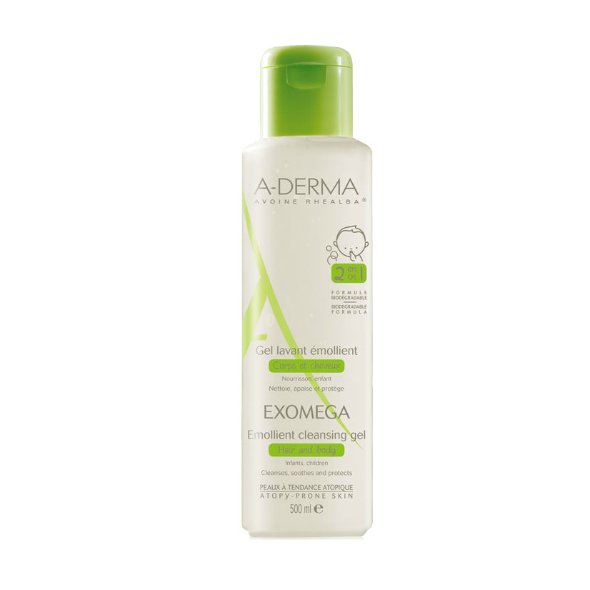 Aderma Exomega Emollient Cleansing Gel 2 in 1 500ml