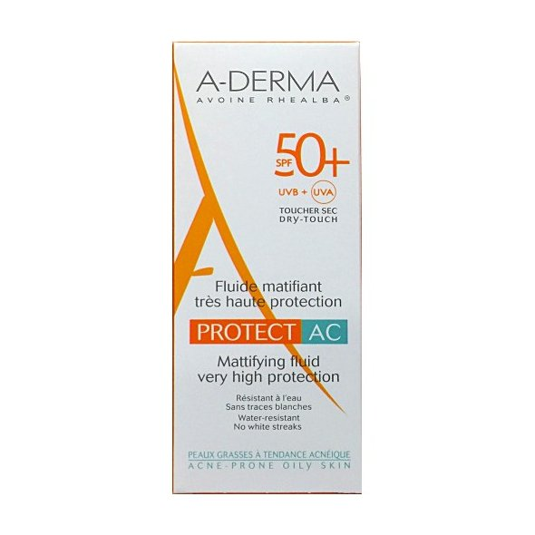 A-Derma Protect AC Mattifying Fluid Very High Protection Spf50+, 40ml