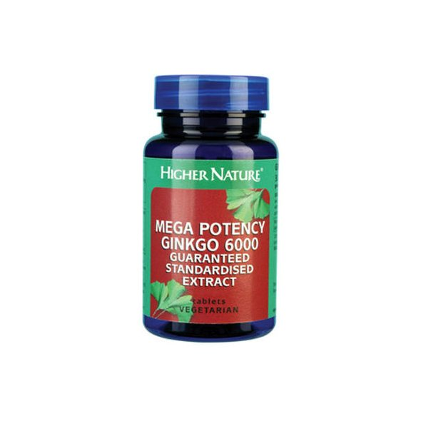 Higher Nature Mega Potency Ginkgo Biloba 6000 30VTabs