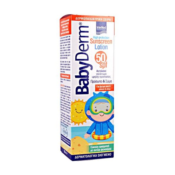 Intermed Babyderm Sunscreen Lotion Spf50 200ml