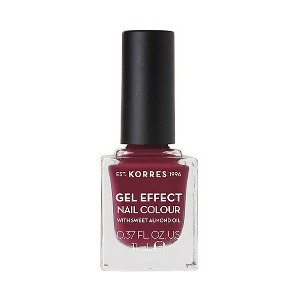 Korres Gel Effect Nail Colour, Βερνίκι Νυχιών No74 Berry Addict 11ml