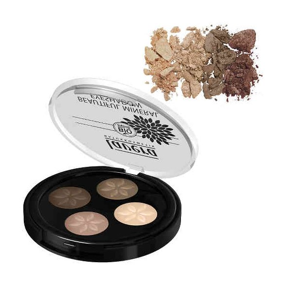 Lavera Trend Sensitiv Beautiful Mineral Eyeshadow Σκιά Quattro Cappucino Cream 02, 4x0.8g