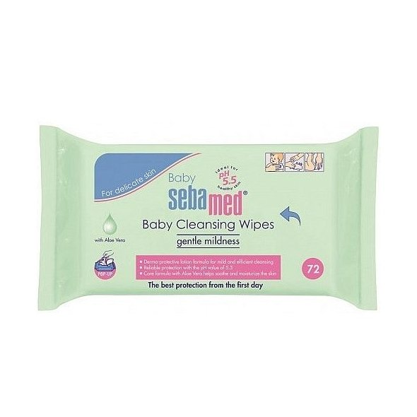 Sebamed Baby Cleansing Wipes 72Τμχ