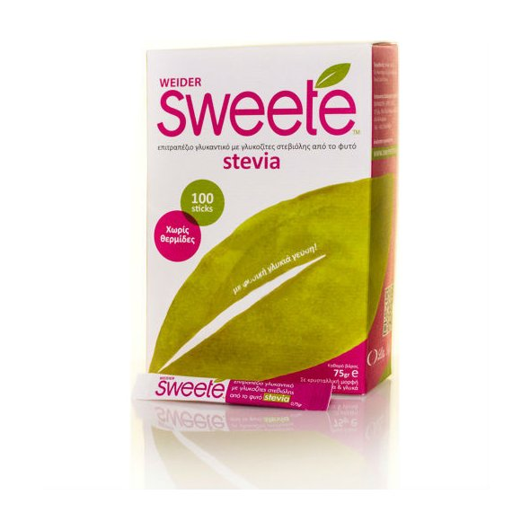 Weider Sweete Stevia 100 Sticks x 0.75g