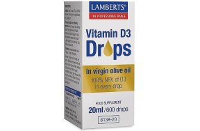 Lamberts Vitamin D3 Drops, 20ml