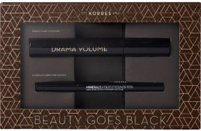 Korres Beauty Goes Black Promo: Drama Volume Mascara 01 Black, 11ml + Mineral Liquid Eyeliner Pen 01 Black, 1ml