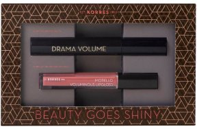 Korres Beauty Goes Shiny Promo: Volcanic Minerals Mascara Drama Volume 01 Black 11ml + Morello Voluminous Lipgloss 16 Blushed Pink 4ml