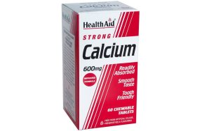 Health Aid Strong Calcium 600mg 60Chew.Tabs