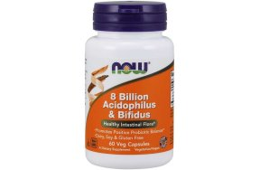 Nowfoods ACIDOPHILUS/BIFIDUS 8 BILLION 60 CAPS Πεπτικό Σύστημα
