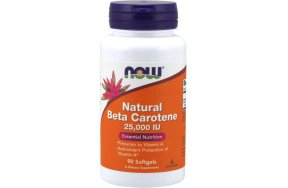 Now Beta Carotene (Natural), 90Caps