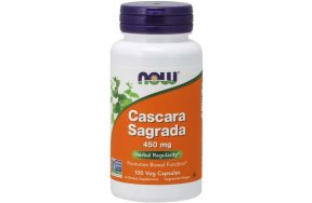 Nowfoods CASCARA SAGRADA 450mg 100 CAPS Ισχυρό καθαρτικό