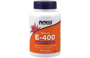 Now Vitamin E-400 IU MT, 100Caps