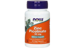Now Zinc Picolinate, 60Caps