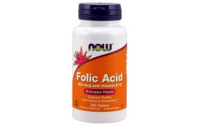 Now Folic Acid 800mcg + B12 25mcg 250 ταμπλέτες