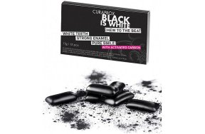 Curaprox Black Is White Chew To The Beat Τσίχλα με Ενεργό Άνθρακα, 12Τμχ
