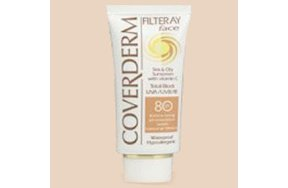 Coverderm Filteray Face Tinted SPF80 Soft Brown