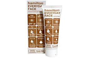 Hamilton Everyday Face Sunscreen Spf30 (Tinted Sunscreen - Light Cream) 50g