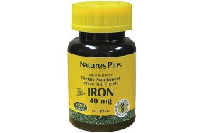 Nature''s Plus Iron 40 mg, 90Tabs