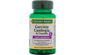 Natures Bounty Garcinia Cambogia & Guarana 60Τμχ