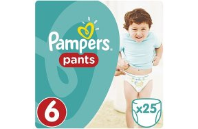 Pampers Pants Πάνες - Βρακάκι No6 (Extra Large:16Kg+) 25Τμχ
