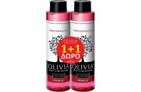 Papoutsanis Promo Olivia Fusion Shower Gel Pomegranate 300ml 1+1