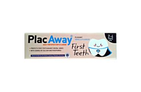 Plac Away First Teeth Οδοντόκρεμα Vanilla 50ml