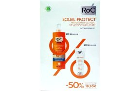 Roc Soleil-Protect: Fluid Anti-Wrinkle Smoothing SPF50+, 50ml & Moisturising Spray Lotion SPF30 200m