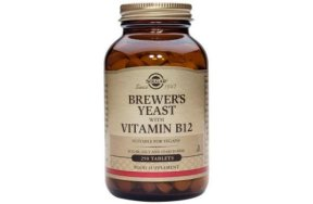 Solgar Brewer's Yeast With Vitamin B-12 500mg, 250tabs