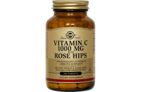 Solgar Vitamin C with Rose Hips 1000mg 100Tabs