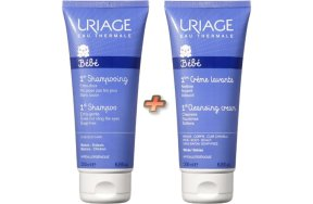 Uriage Baby Promo: 1st Shampoo Extra Gentle 200ml + 1st Cleansing Cream 200ml