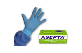 Asepta Nitrile Examination Gloves Medium Powder Free 100τμχ