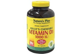 Nature''s Plus Adult''s Chewable Vitamin D3 90Chew.Tabs