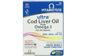 Vitabiotics ULTRA 2 IN 1 COD LIVER OIL (AQUA MARINE) 60caps